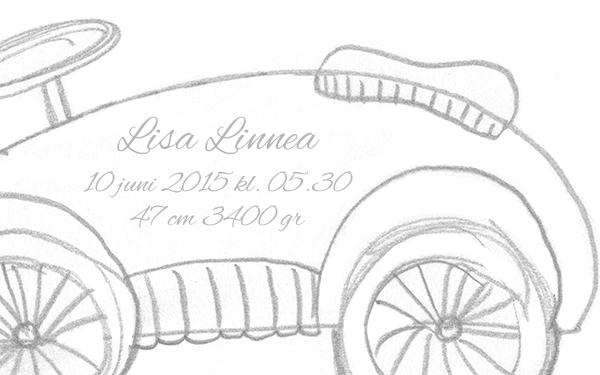 Doptavla old car detalj